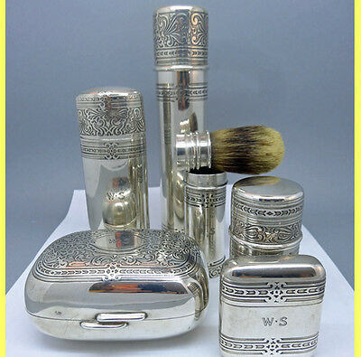 Antique Sterling Silver Tiffany & Co Toiletry Shave Cologne Arts Crafts (#5834)