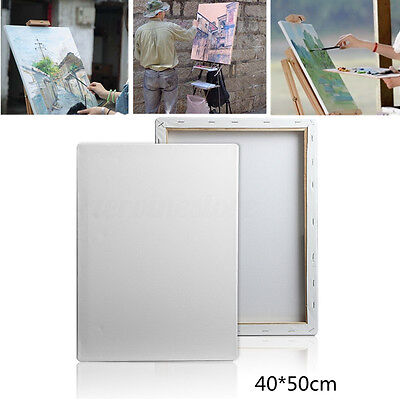 White Blank Artist Art Painting Drawing Board Canvas Wooden Frame 40cm*50cm