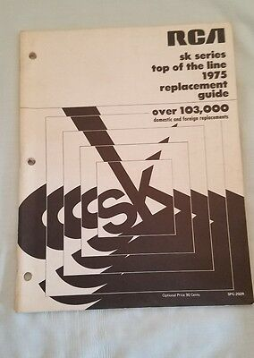 RCA SK Series Replacement Guide 1975