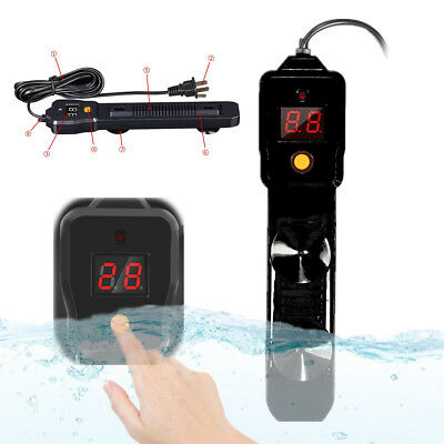 100W LCD Auto Adjust Submersible Aquarium Fish Tank Heater Thermostat 16-36°C