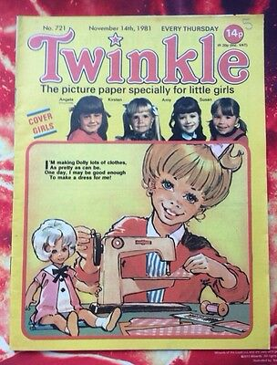 TWINKLE  COMIC NO. 721. 14 NOVEMBER 1981. Lovely Condition. Puzzles Not Done.