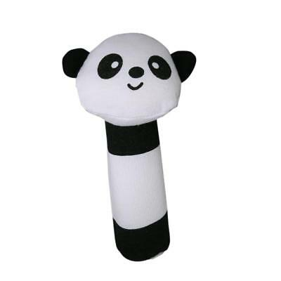 Soft Plush Black White Panda Squeaky Bar Baby Infant Rattle Sould Toys Gifts