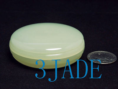 Natural Translucent White Jade / Calcite Powder Case