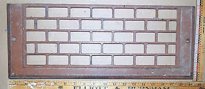 "Vintage Cast Iron Floor To Wall Grate Brown 19-3/8"" x 7½"" Decor - Steampunk"