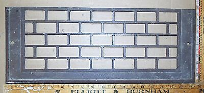 "Vintage Cast Iron Floor To Wall Grate #2 19-3/8"" x 7½"" Decor - Steampunk"