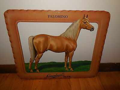 (VTG) 1950s LEINENKUGELS BEER PALOMINO HORSE 3-D SIGN Stable Barn Farm