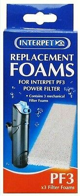 Interpet Internal Power Filter Pf3 Filter Foams 3Pc