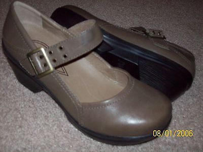 Sanita Light Brown Leather Mary Jane Shoes Size 38 Us 7 Nwob