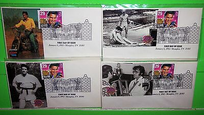 #2721 Elvis Presley Fdc, Paw Photo Cachet, Ua Lot Of 4, Hard To Find, Lot # 22