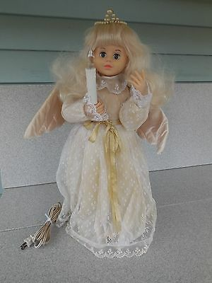 """Nice Vintage Telco 24"""" Angel Motionette / Head And Both Arms Move, Candle Lights"""