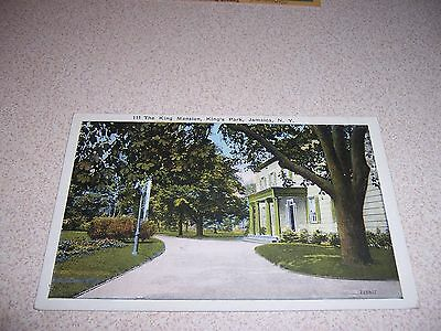1910s THE KING MANSION KINGS PARK JAMAICA NY. ANTIQUE POSTCARD
