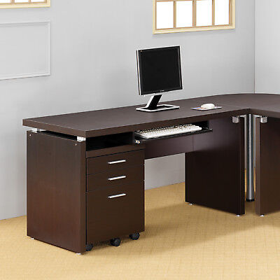 Coaster 800891 Cappuccino Finish Computer Desk With Drop Down Drawer