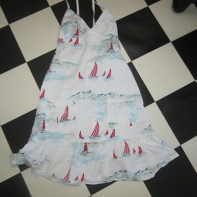 Girls Halter Dress Vintage Style Cotton Fabric Same Pattern Cath Kidston Used