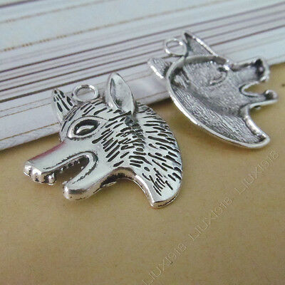 10pc Tibetan Silver Skull Heads Mask Pendant Necklace Charms Accessories PJ647