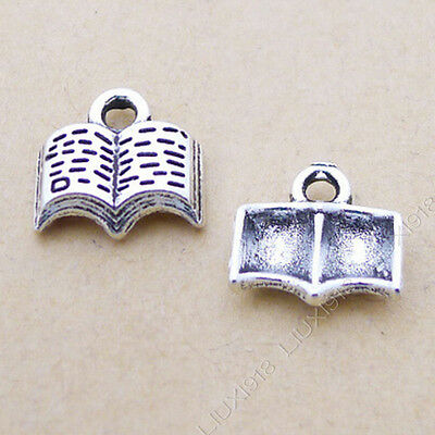 50pc Tibetan Silver Book Cross Peace Dove Pendant Bracelet Necklace Charms P913 Art & Craft Supplies Beads & Jewellelry Making Supplies