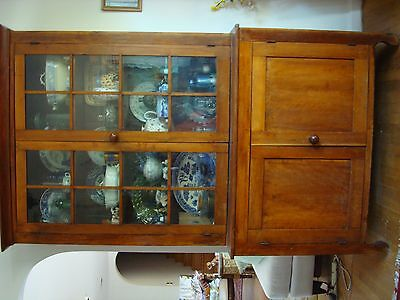 stepback antique cupboard cherry colonial period