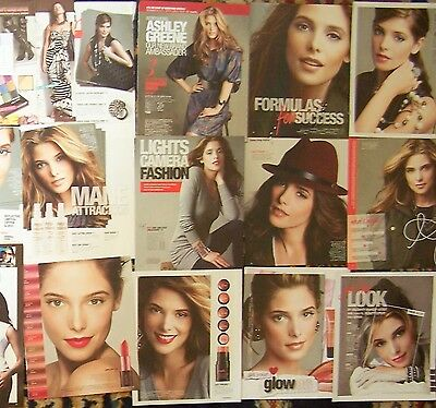 28 Ashley Greene Magazine Clippings from Avon & Mark brochures