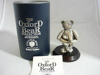 Superb Large Sterling Silver Swimming Bear Sculpture Statue In Original Box