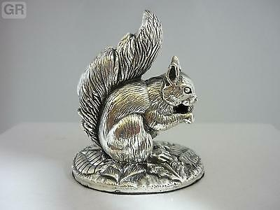 Stunning Hallmarked Sterling Silver Squirrel Statue Brand New