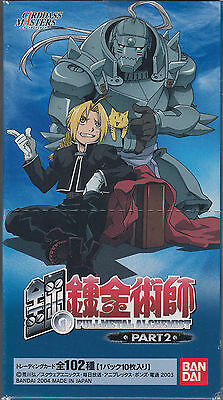 FullMetal Alchemist Carddass Masters Trading Card Part 2 Sealed Box Japanese