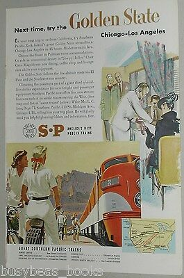 1951 Southern Pacific Lines ad, Golden State train