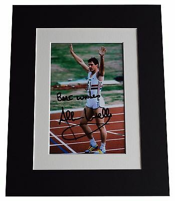 Allan Wells Signed Autograph 10x8 photo display Olympic 100m Champion AFTAL COA