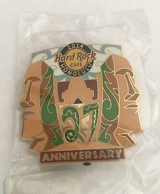 Hard Rock Cafe HRC 27th Anniversary HONOLULU Pin 2014, Limited Edition 500  NWT