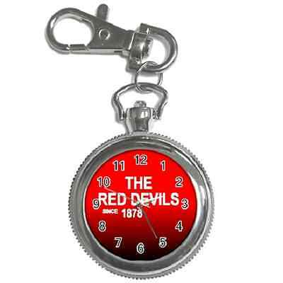 The Red Devils Since 1878 Manchester Round Keychain Watch**fantastic Gift Item**