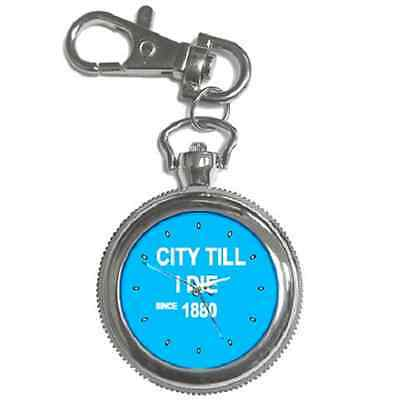 City Till I Die Since 1880 Man City Round Keychain Watch**fantastic Gift Item**
