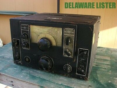 Vintage WW2 WWII Military Radio National Receiver RAO-6 NC-120 Signal Corps