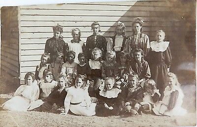 .racist, Rare 1909 Real Photo Postcard. Nambucca Heads School Australia