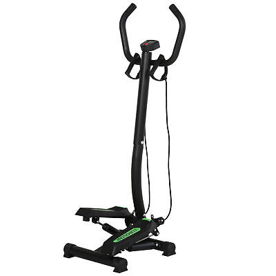 HOMCOM Free Stand Stepper Steel Climber Training Rope Fitness Workout Exercise