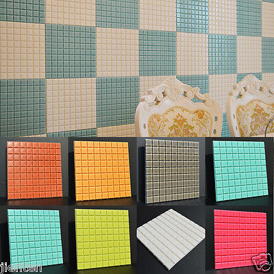 Self-adhesive Waterproof Mosaic Wall Paper Sticker Decals Tile Kitchen Bathroom