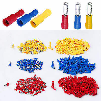 50/100 Pcs Bullet Connector Insulated Crimp Terminals for Car Electrical Wiring