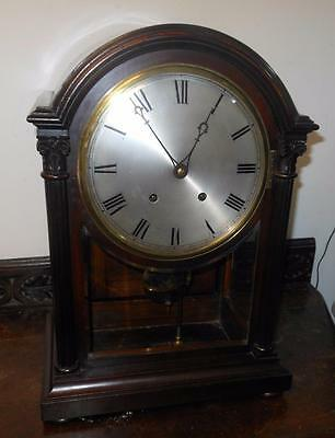 nice quality mahogany cased  w & h ting tang bracket clock c1900s