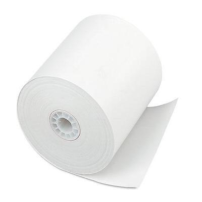 """PMC 08838 Single-Ply Thermal Cash Register/POS Rolls, 3"""" x 225 ft., White, 24/Ct"""