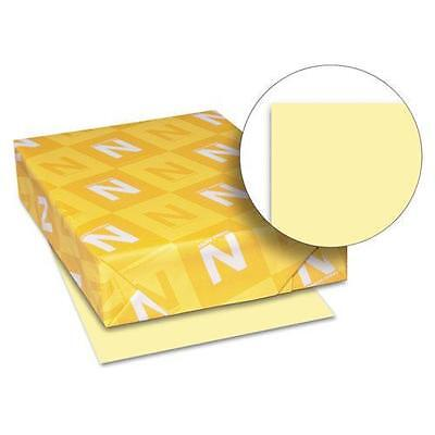 Wausau 49141 Exact Index Card Stock, 90 lbs., 8-1/2 x 11, Canary, 250 Sheets/Pac