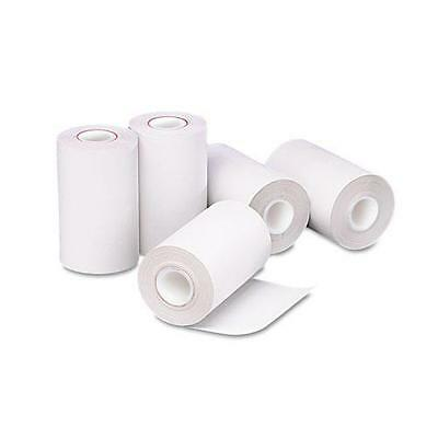 """PMC 05262 Single-Ply Thermal Cash Register/POS Rolls, 2-1/4"""" x 55 ft., White, 5"""