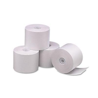"""PMC 05212 Single-Ply Thermal Cash Register/POS Rolls, 2-1/4"""" x 165 ft., White, 6"""