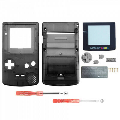 Black Repair Full Housing Shell Case Cover Buttons Sets for Game Boy Color GBC