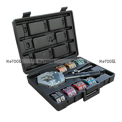 1500 A/C Hose Hydraulic Crimper Car Hose Fittings Crimping Tool Kit w/ 7 Die Set