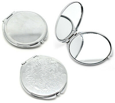 2017 Fashion Portable Pocket Mirror Compact Double Side Makeup Cosmetic Round
