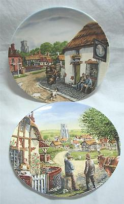 2 Ltd Edition Royal Doulton Collector's plates by Mick Bensley c.1991
