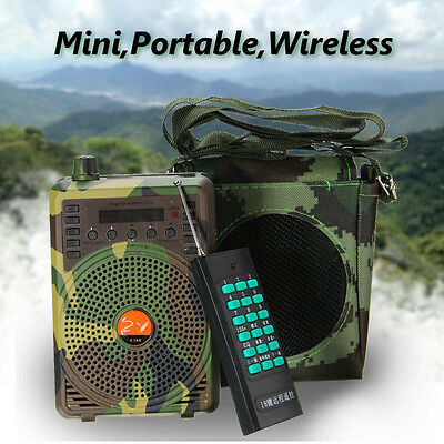 48W Hunting Speaker Bird Caller Predator Sound Caller MP3 Player +Remote Control