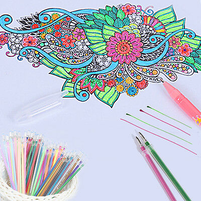 12/48 Colors New Gel Pens Glitter Coloring Drawing Craft Markers Stationery