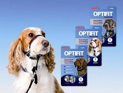 Halti OPTIFIT Dog Headcollar Stops Pulling Inc Training DVD/Booklet – ALL SIZES