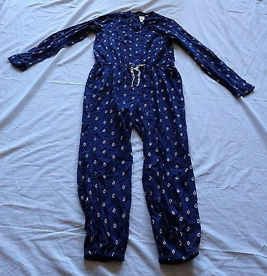 Girls size 12  Navy blue playsuit long arms and legs  play suit jumpsuit  NEW
