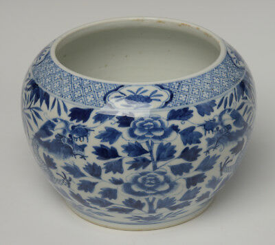 19th Century, Guang Xu, Antique Chinese Porcelain Blue and White Jar