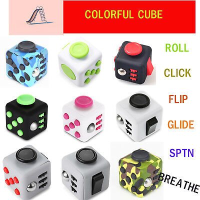 Fidget Cube Anxiety Stress Relief Focus Attention Therapy Adults Kids Gift Black