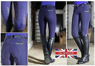 RRP £80! FLASH SALE! HKM Ladies PRO TEAM Breeches + GRIP Silicone Knee Patches